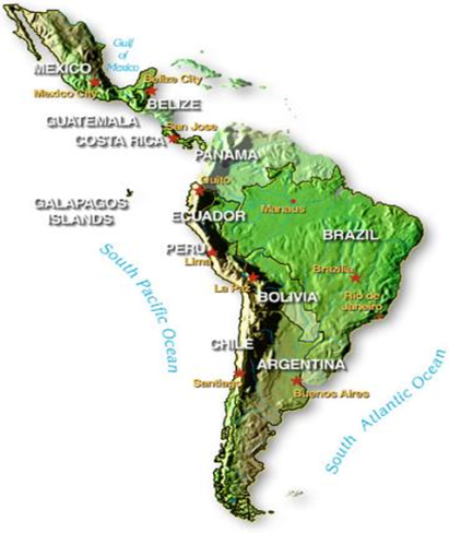 Timeline Of US Intervention Peace And Justice - Us latin american intervention maps