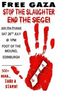 protest for palestine 26 july flyer