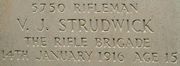 strudwick aged 15 memorial