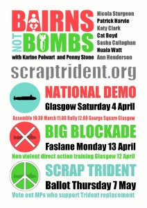 BairnsnotBombs flyer with speakers