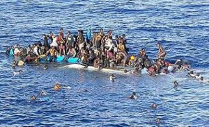 Refugees in the Mediterranean. Photo: telegraph.co.uk