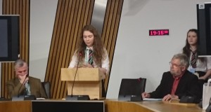 St Thomas Aquins students spoke about Conscientious Objectors at Scottish Parliament event.