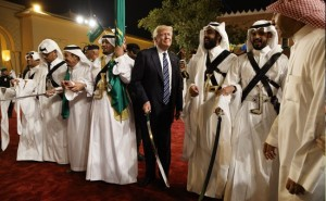 Trump with Saudi Princes